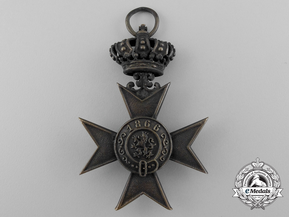 A Bavarian Military Merit Cross; 3rd Class with Crown with Case