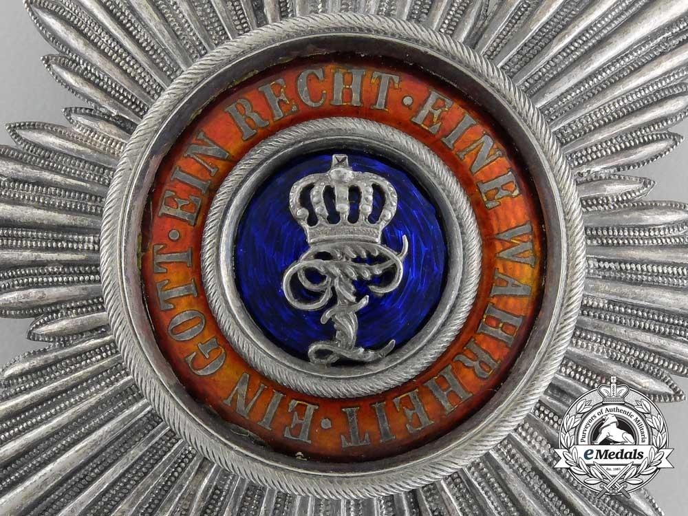 An Oldenburg House & Merit Order of Duke Peter Frederick Louis; Grand Cross Breast Star