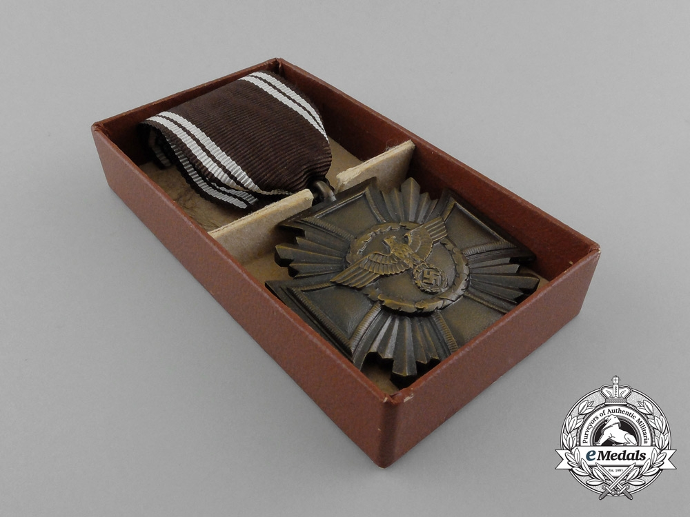 A Mint and Cased NSDAP Long Service Award for 10 Years with Box