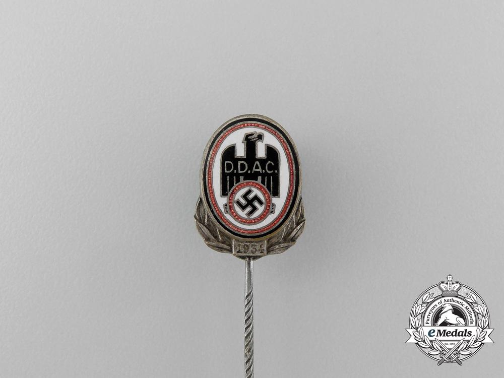 A 1934 D.D.A.C German Automobile Club Membership Stick Pin by Christian Lauer