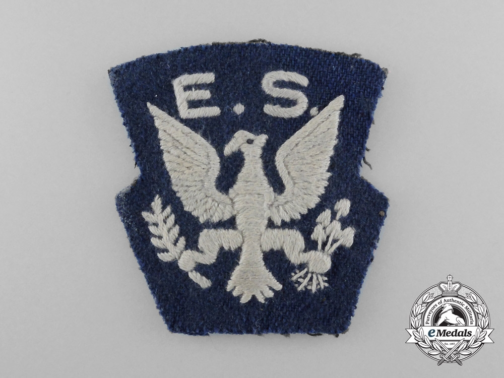 4e05f28c6a6 A Rare Second War Royal Air Force (RAF) Eagle Squadron Shoulder Patch
