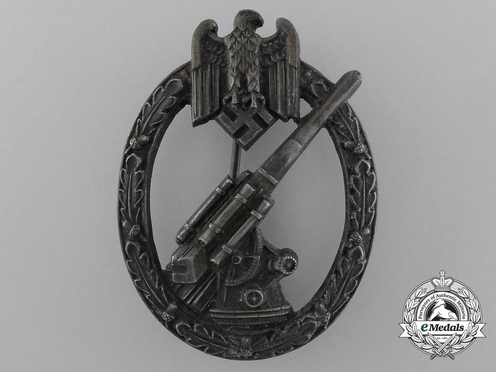 A Fine Wehrmacht Army (Heer) Flak Artillery Badge by C. E Juncker