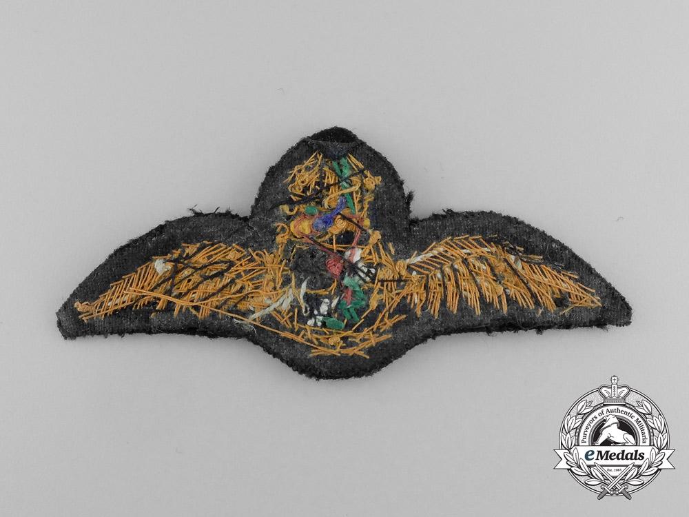 A Second War South African Air Force (SAAF) Bullion Pilot Wing