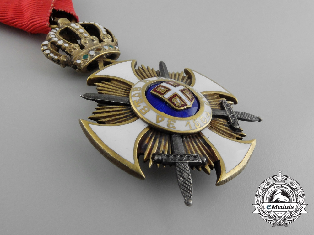 A Serbian Order of the Star of Karageorge; Fourth Class