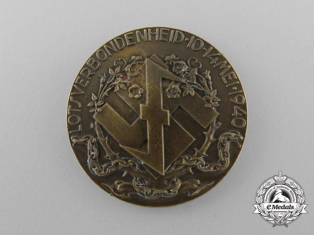 A 1940 Dutch National Socialist Movement (NSB) Lotsverbondenheid Medal
