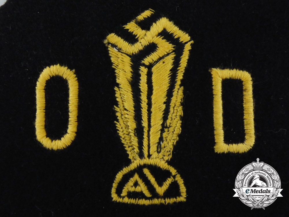 A Scarce German American Bund Embroidered Patch
