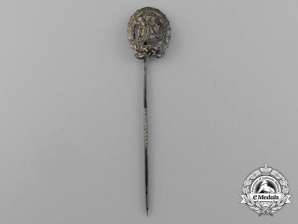 A Silver Grade DRL Sports Badge Miniature Stick Pin by Wernstein