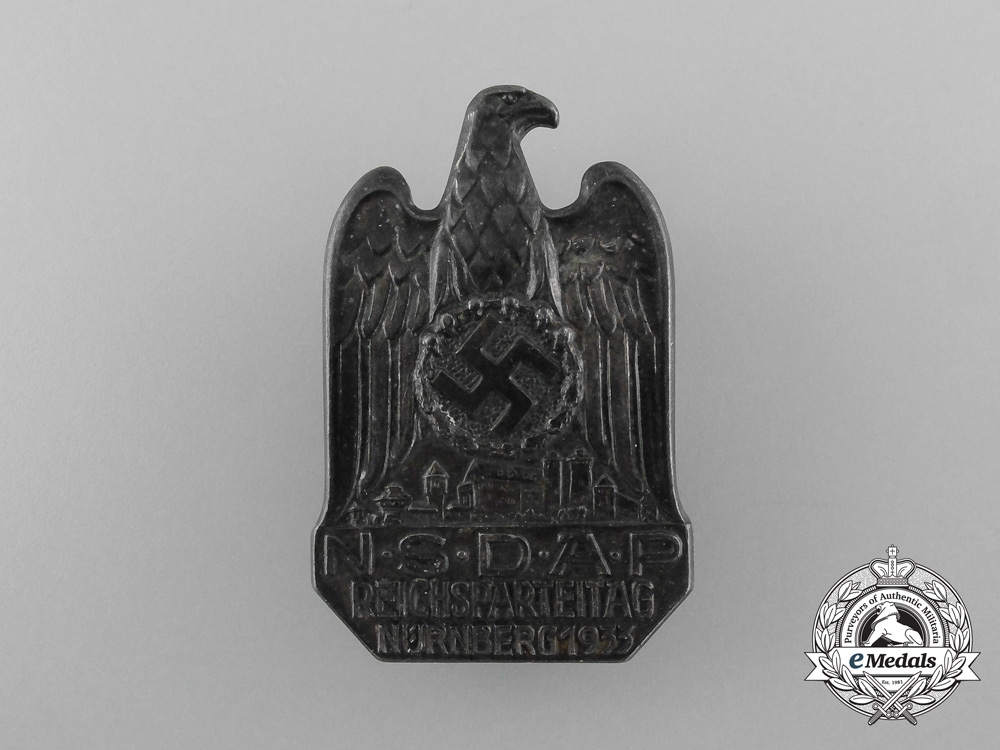 """A Rare Silver 1936 NSDAP Reichsparteitag Nürnberg Award """" 1000"""" Silver"""