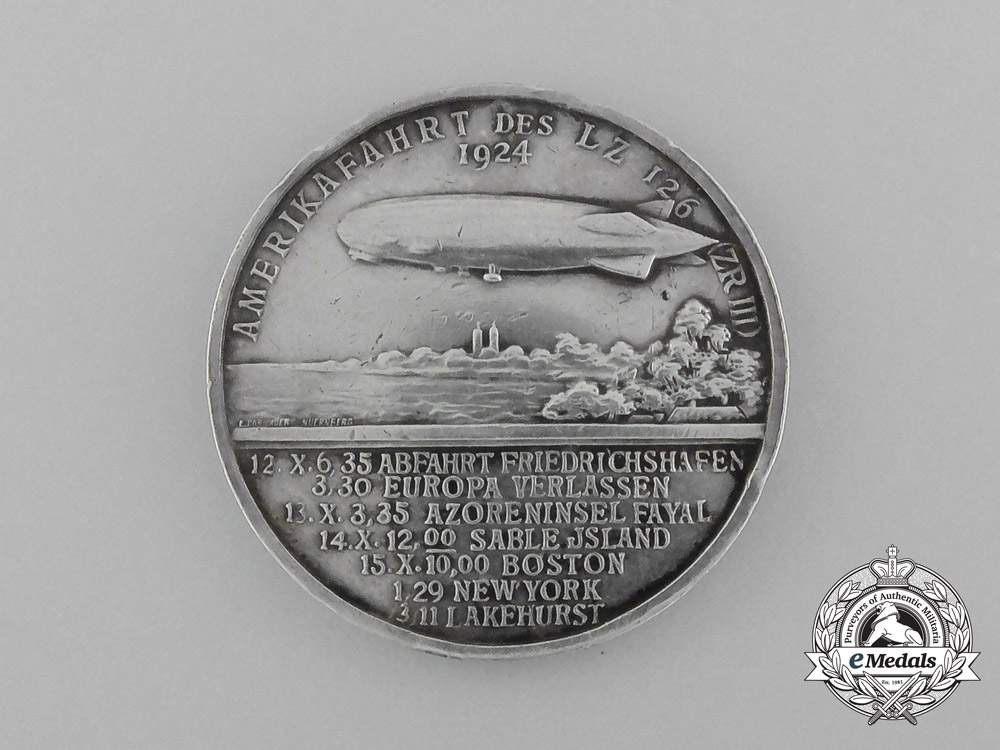 A 1924 Commemorative Coin for the Launch of Zeppelin LZ 126