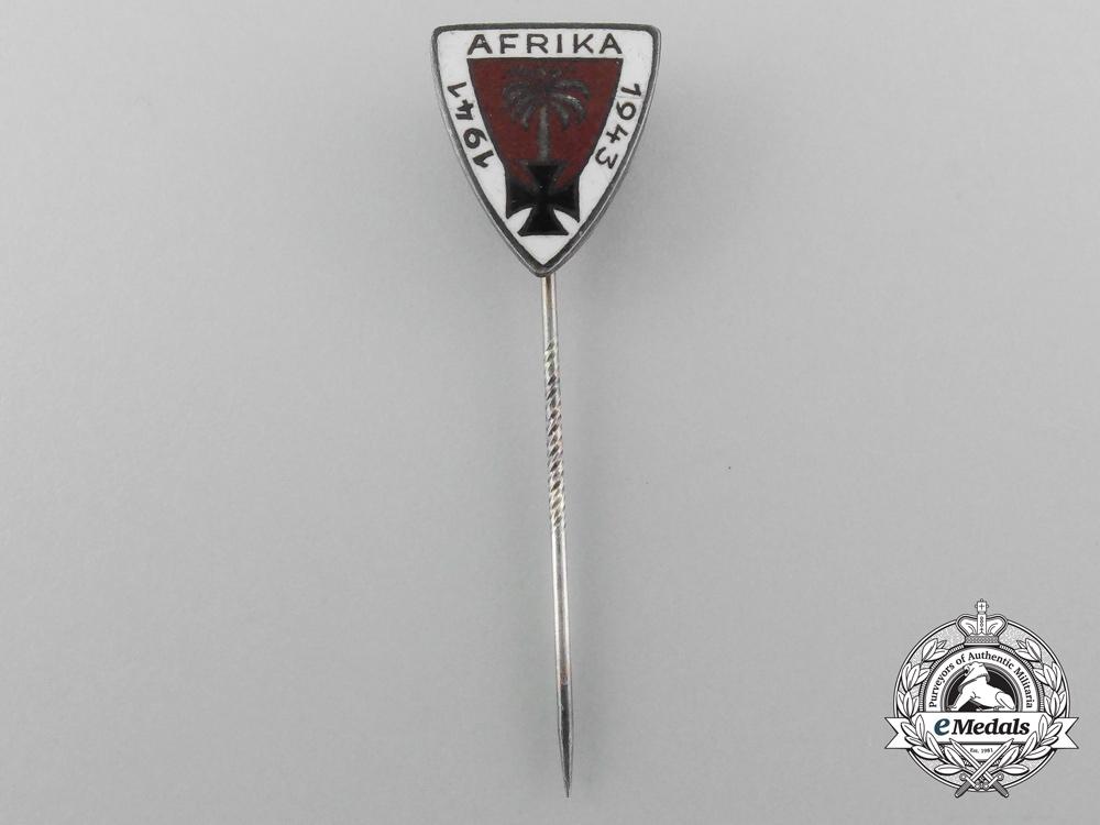 A 1941-1943 Deutsches Afrika Korps Commemorative Campaign Stick Pin