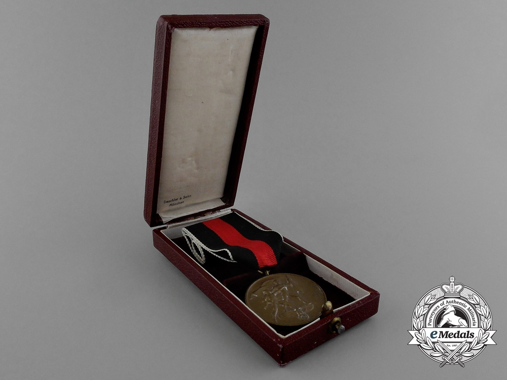 A Commemorative Sudetenland Medal in its Original Case of Issue by Deschler & Sohn