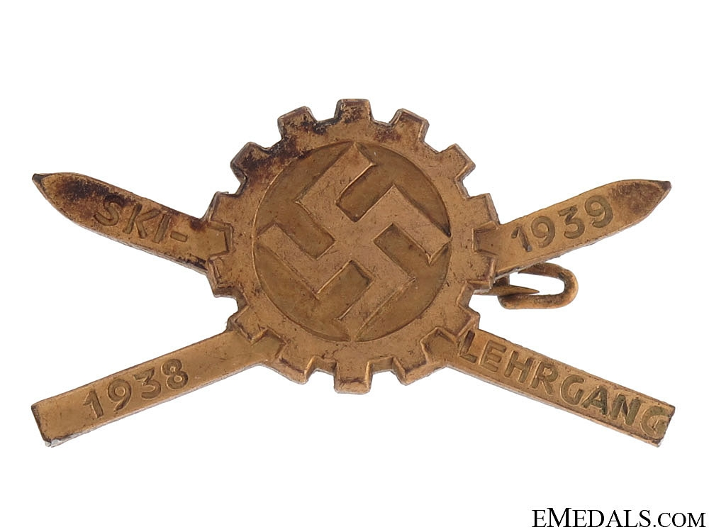 Day Badge - DAF Ski Badge 1939