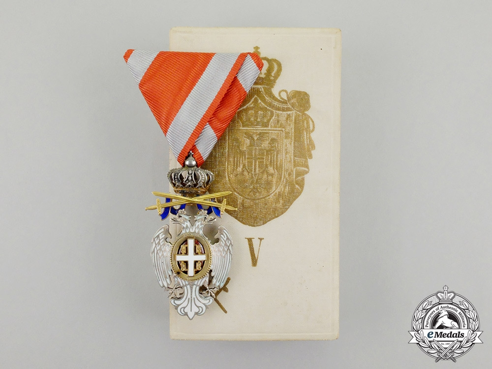 Serbia. An Order of White Eagle 5th Class Type II (1903-1941) with Case
