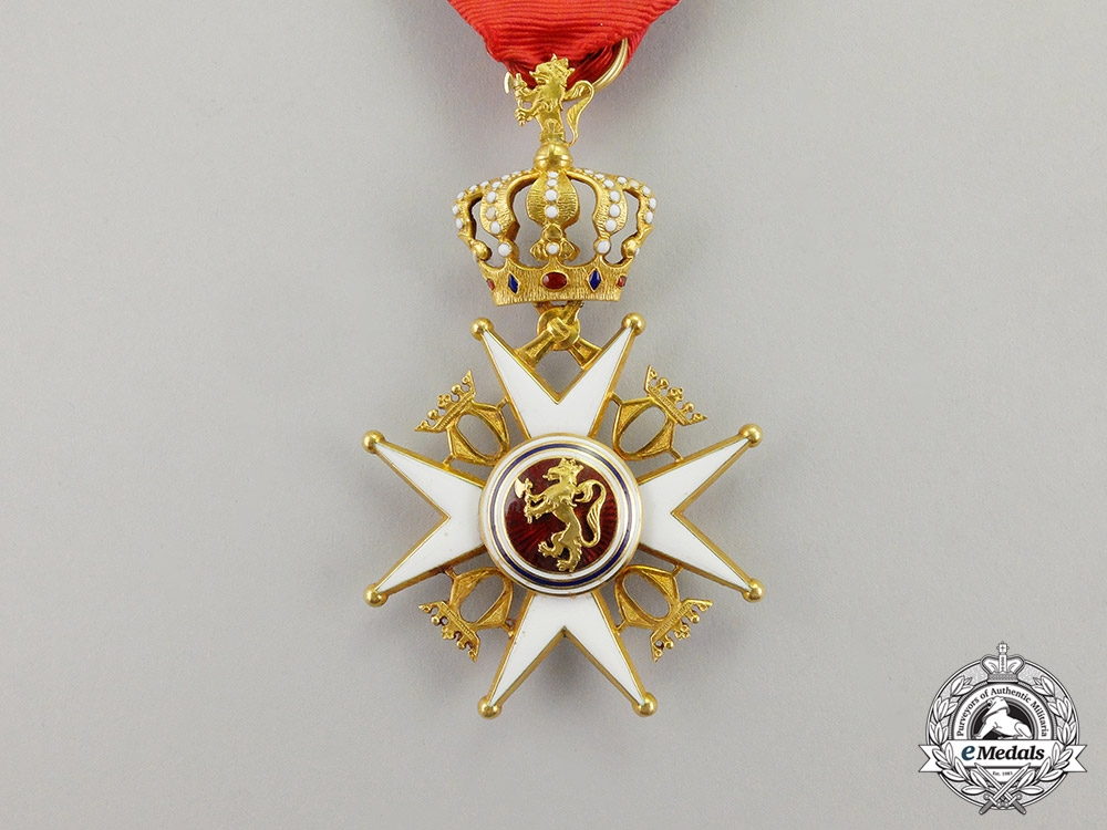 Norway, Kingdom. An Order of St. Olaf in Gold, I Class, by J.Torstrup, c.1910