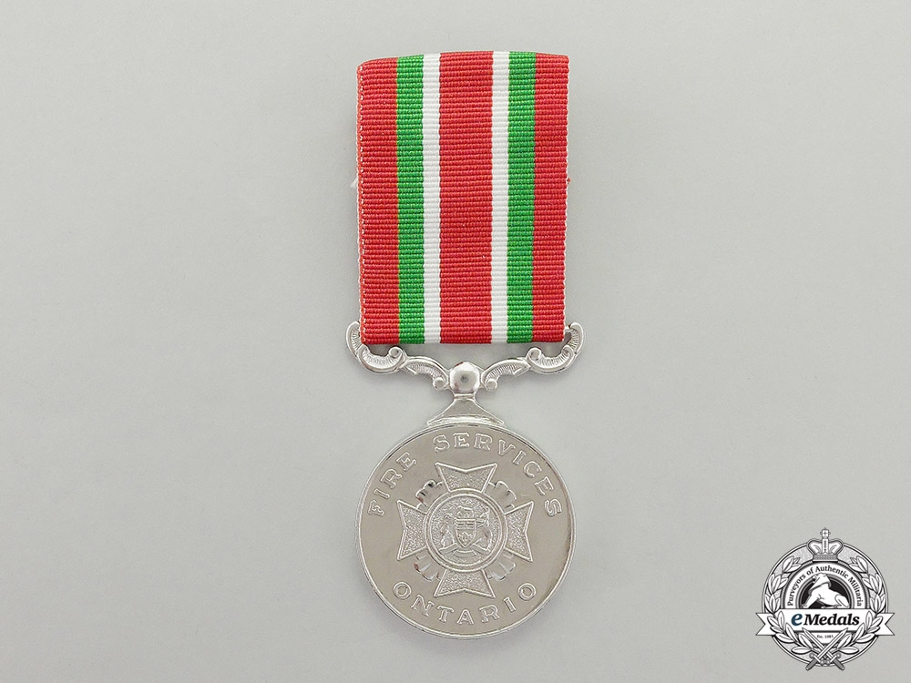 A Canadian Province of Ontario Fire Long Service Medal