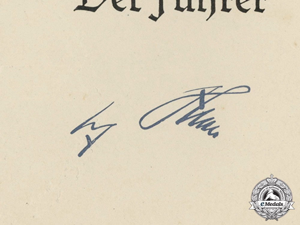 Germany, Kriegsmarine. The Decorations & Documents of Frigate Captain Johannes Weise; A.H. Signed