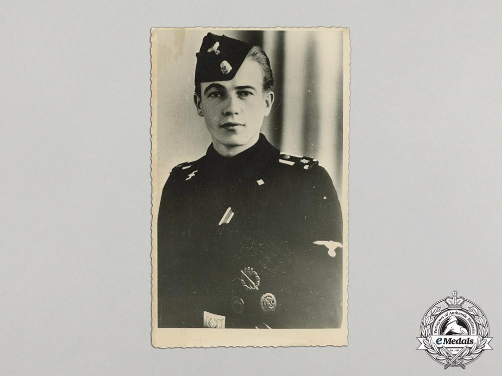 Germany. A Wartime Picture Postcard of an SS-Unterscharführer of LSSAH