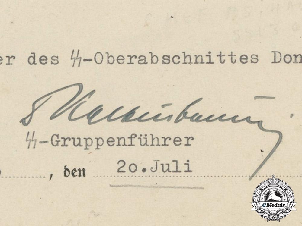 A Promotion Application Signed by SS-Gruppenführer Kaltenbrunner