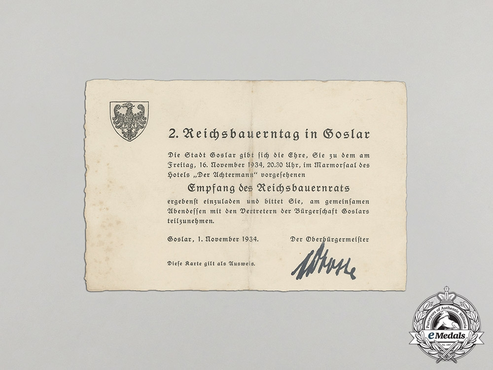 A Large NSDAP Group to the Economic & Administrative Leader of Latvia