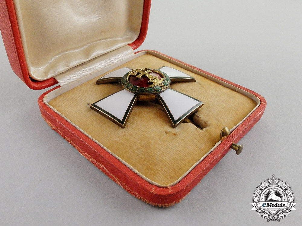 Hungary. An Order of Merit, Officer's Cross, in Case of Issue