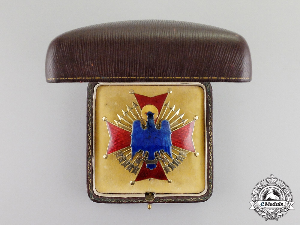 Spain, Franco Period. An Order of Cisneros in Gold, I Class Star, by J.Laz, c.1935