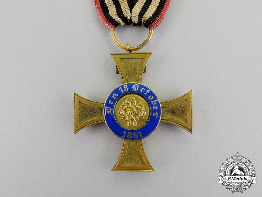 Prussia. A 1872-1874 Issue Royal Crown Order Cross Fourth Class with Geneva Cross
