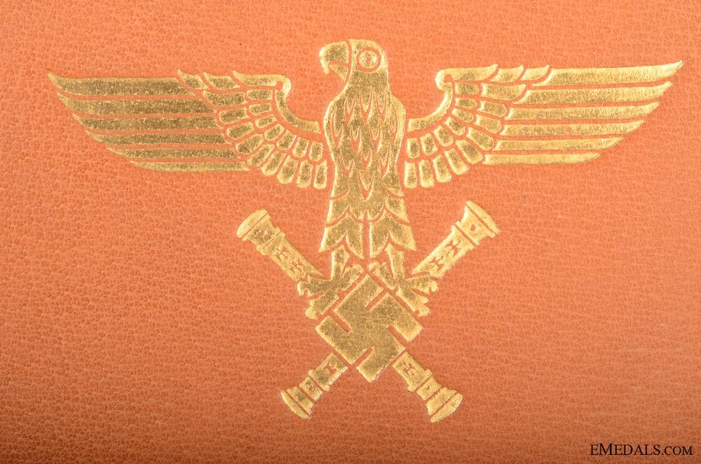 Pilot Observer's Badge in Gold & Diamonds Document  12000