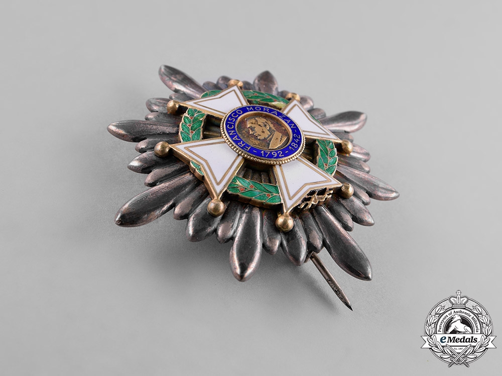 Honduras, Republic. An Order of Francisco Morazan, I Class Grand Cross Star, by Cravanzola-Gardino, c.1948
