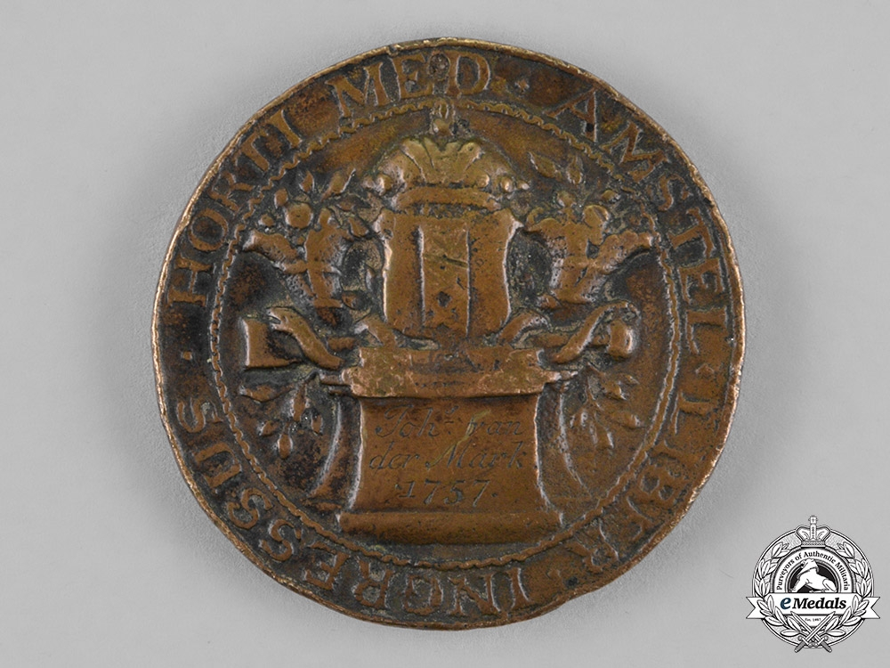 Netherlands, Kingdom. An Amsterdam College of Medicine Table Medal, c.1757