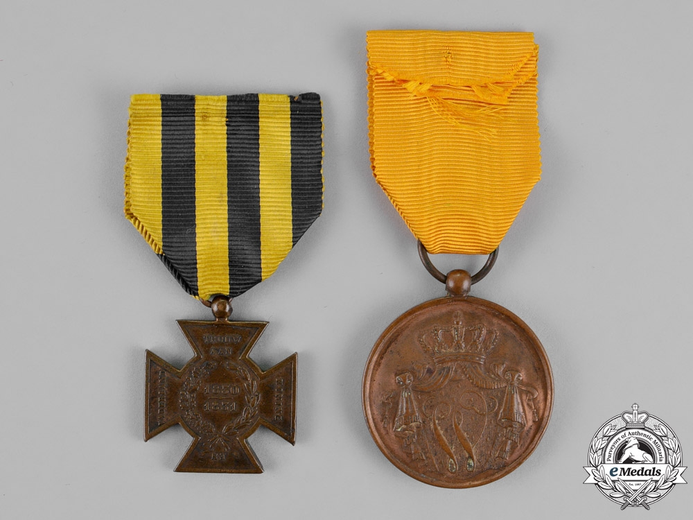 Netherlands, Kingdom. Two Medals & Decorations