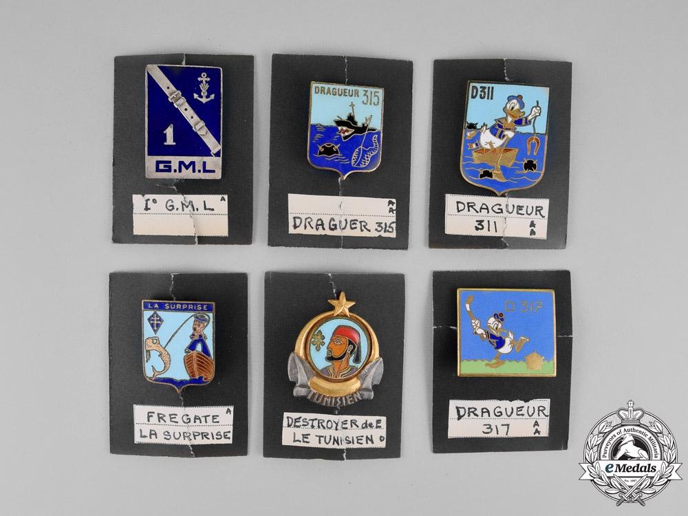 France, Third Republic. A Lot of Six Marine Badges