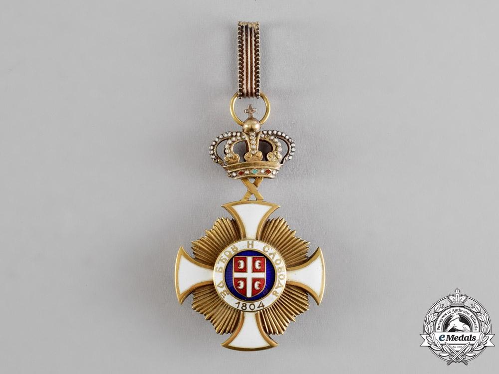 Serbia, Kingdom. An Order of Karageorge, III Class Commander, by Bertrand, Paris, c.1918