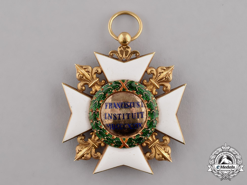 Italian States, Kingdom of the Two Sicilies. A Royal Order of Francis I in Gold, II Class Knight, by Rothe, c.1875