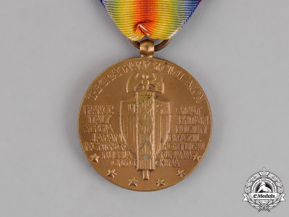 United States. A World War I Victory Medal, Destroyer