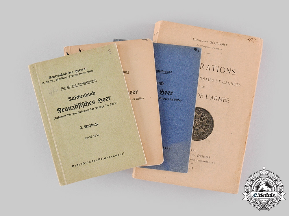 France, Third Republic; Germany, Third Reich. Four Publications from the Library of Dr.Goodwin