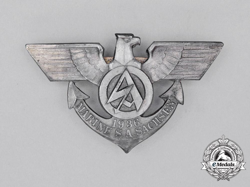 A 1936 SA Marine Saxony Membership Badge