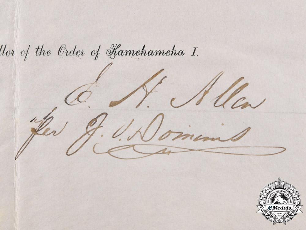 Hawaiʻi, Kingdom. The Royal Order of Kamehameha I (KGCOK), Knight Grand Cross of Sir John Bowring, the Governor of Hong Kong