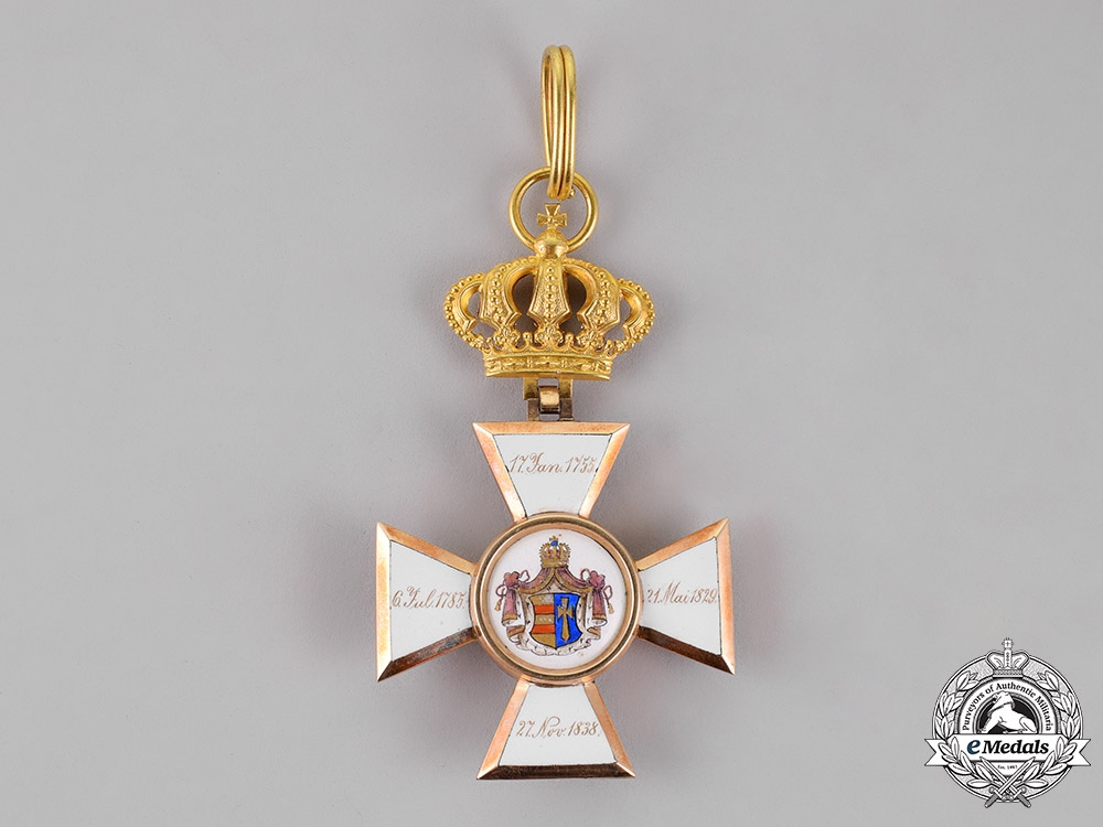Oldenburg. A House and Merit Order of Duke Peter Friedrich Ludwig in Gold, Commander, c.1890