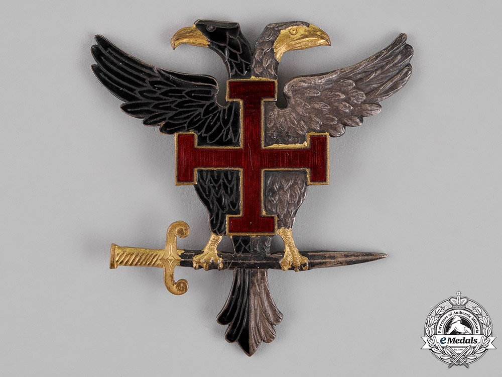 Austria, First Republic. A Fatherland Front Cap Badge, c.1937
