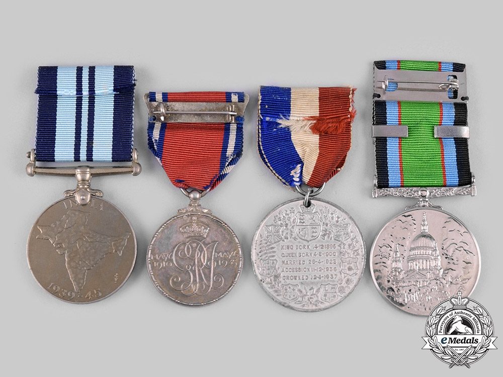United Kingdom. A Lot of Four British Medals and Awards