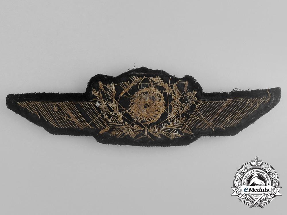 An Unusual Early Luftwaffe Visor Cap Wreath and Cockade