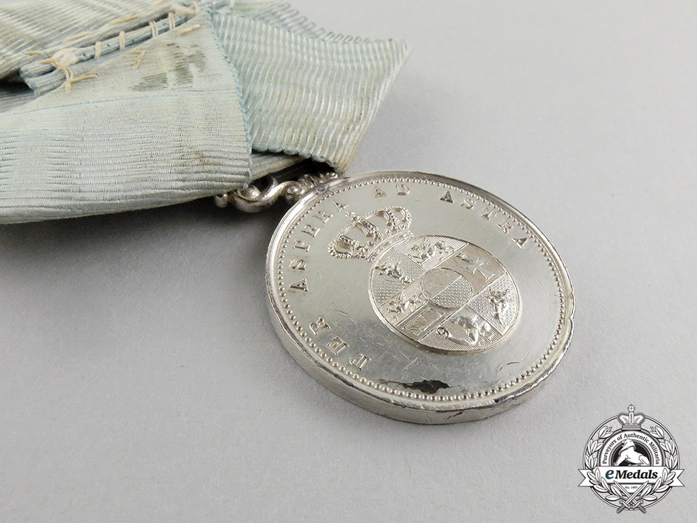 An 1885-1918 Issue Mecklenburg-Schwerin Memorial Medal for Grand Duke Friedrich III