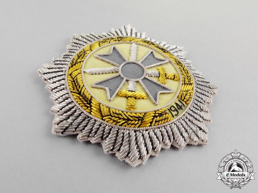 A Post War German Cross in Silver; Cloth Version