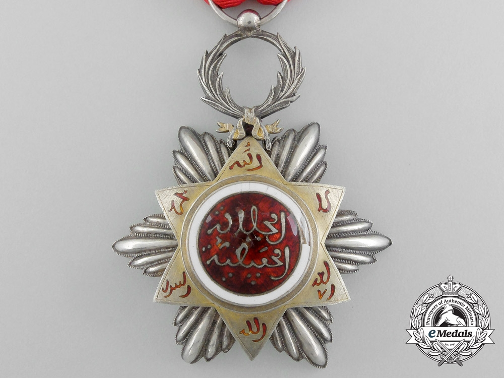 A Moroccan Order of Nishan Hafiden; Knight by Arturs Bertrand & C Paris