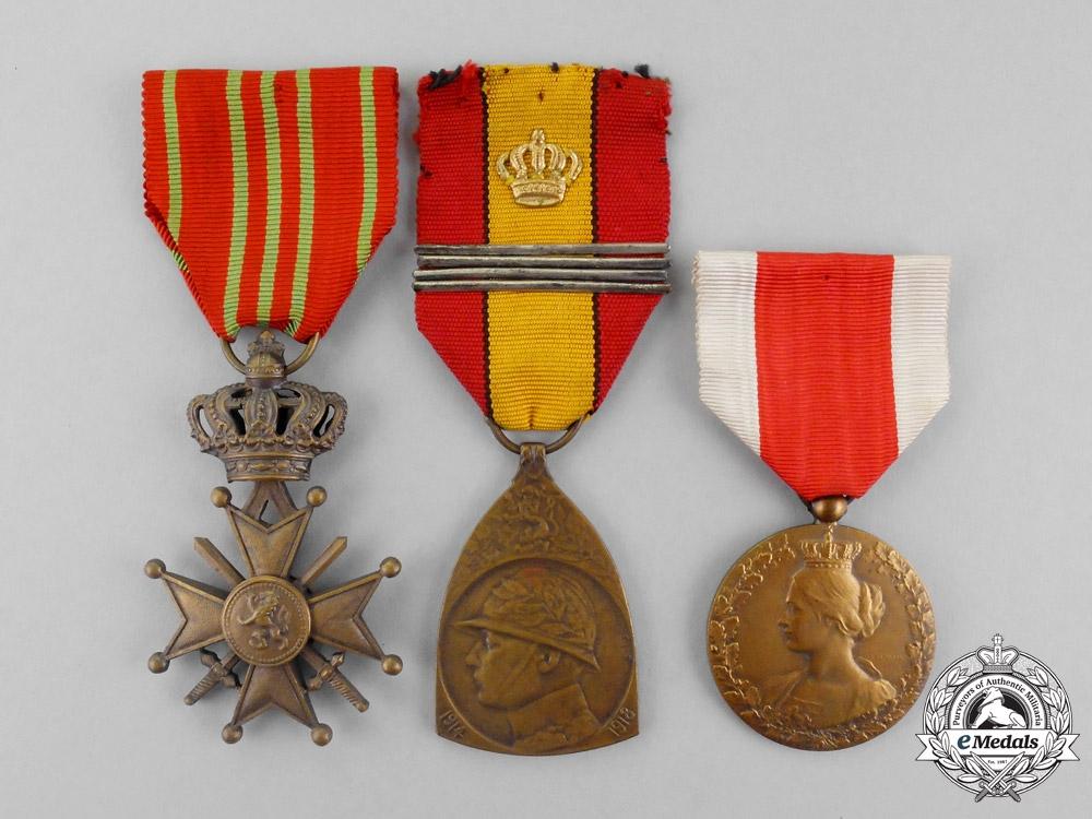 Belgium three belgian first war awards decorations for Awards decoration