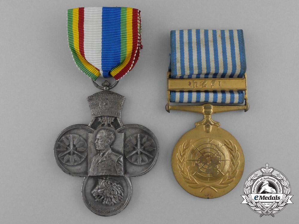 Ethiopia. A Korean Conflict Campaign Medal Pair