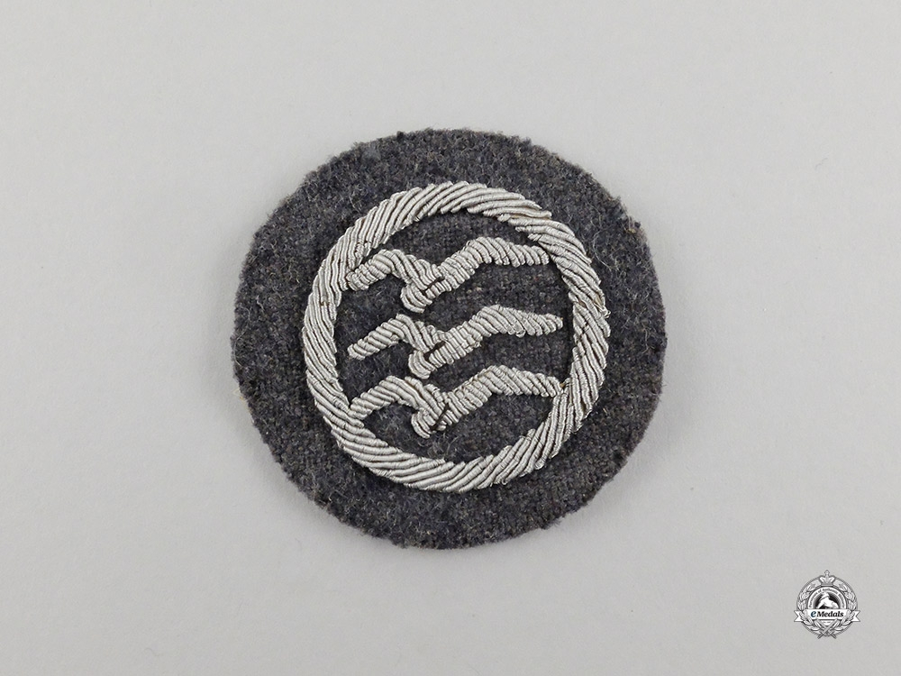 "Germany. A Civil Gliding Class ""C"" Proficiency Badge; Cloth Version"