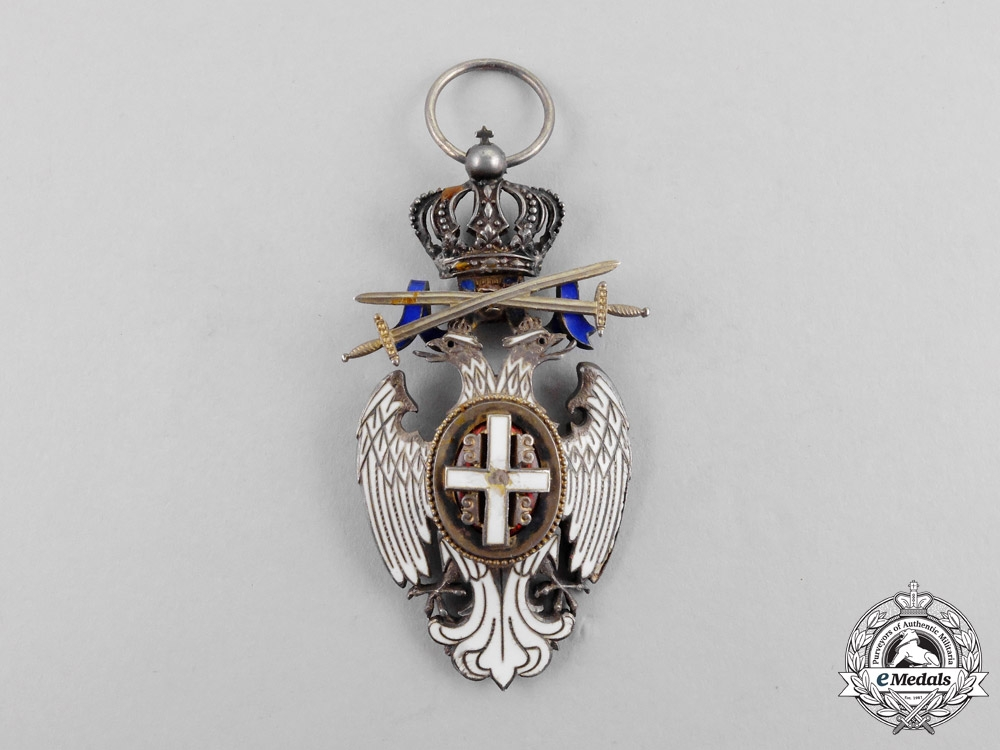 Serbia, Kingdom. An Order of the White Eagle, Knight with Swords, Type II, c.1914