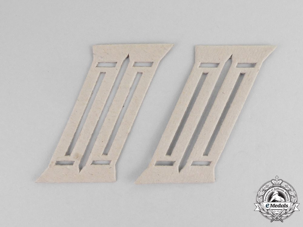 Germany. A Mint Set of Wehrmacht Officer's Collar Tab Templates
