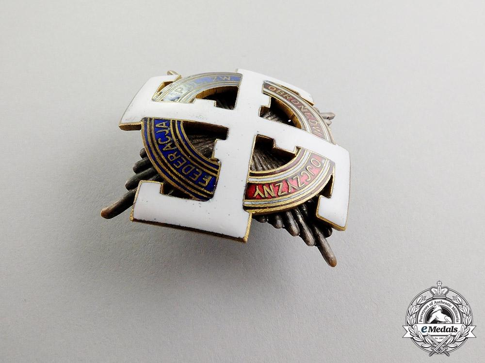 Poland. A Third Reich Period Veterans Organization Honour Badge by W. Miecznik